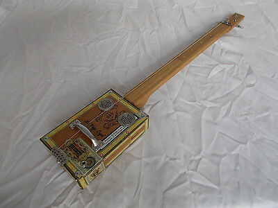 """cigarbox guitar electro-acoustic """"Alec Bradley"""" slide lapsteel traditional style"""
