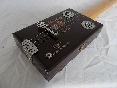 "cigarbox guitar electro-acoustic ""Paradiso"" slide lapsteel traditional style"