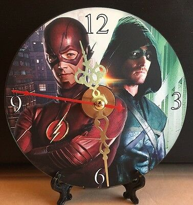 Brand New The Flash and Green Arrow CD Clock DC Superheros Action Movies Nice!!