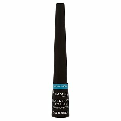 Rimmel Exaggerate Waterproof Liquid Eye Liner Black No Smudge FAST FREE DELIVERY