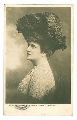 Stage Actress Singer Fanny Moody Vintage Postcard Free Shipping