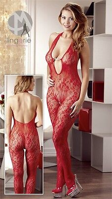 Mandy Mystery lingerie Catsuit Perle rot L/XL Women |56