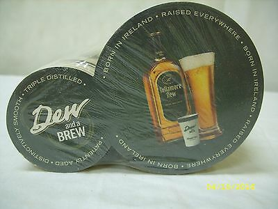 "(125) Tullamore Dew Irish Whiskey ~ ""dew & A Brew"" Promo Cardboard Drink Coaster"