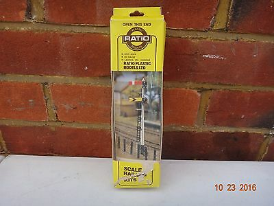 Ratio Gwr Home And Distant Signal Model Railway Kit Oo Gauge