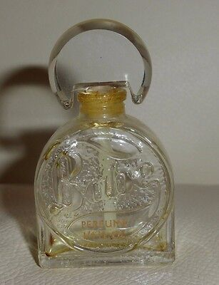Vintage Faberge Babe Empty Perfume Bottle With Glass Stopper 1/4 Fl Oz