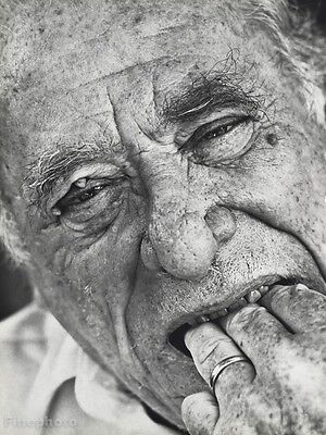 1987 Vintage 11x14 CHARLES BUKOWSKI Poet Writer Literature Photo Art HERB RITTS