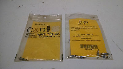 """*NOS LOT OF 6* C&D Valve Cores 1/4"""" Male Flare CD4460 CD1515 B10-740  P130"""