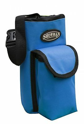 Showman BLUE Insulated Nylon Bottle Carrier W/ Pocket Trail Riding! HORSE TACK!