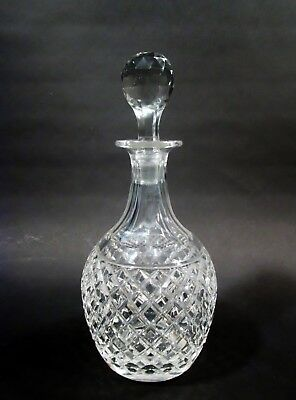 Vtg HAWKES Signed Cut Crystal DELFT DIAMOND Decanter