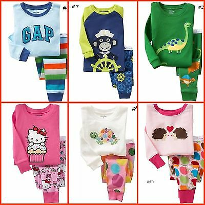 Sales!New Baby Boys Girls Longsleeved Pyjamas sleepwares PJs size1.2.3.4.5 Gift