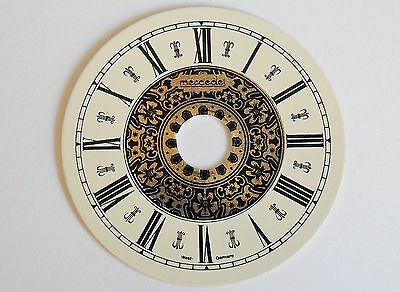 Printed Clock Dial 53Mm Dia With Black Roman Numerals 478A