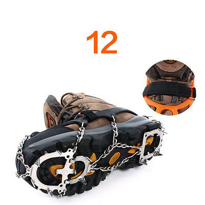 Winter 12-Teeth Points Climb Ice/Snow Boot Shoe Covers Crampons Cleats Gripper