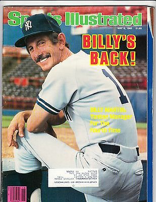 May 6, 1985 Sports Illustrated Billy Martin Yankees Cover