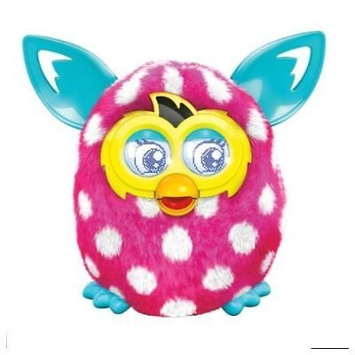 Interactive Kids Plush Toy Furby Boom Figure Pink with White Polka Dots NEW