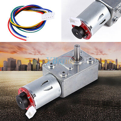Reversible Turbo Worm Two-phase Reduction Gear Motor + Encoder Cable 10-100RPM