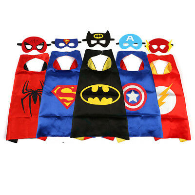 JouerNow 1 / 5 Set Superhero Captain Birthday Party Dress Up Cape with Mask