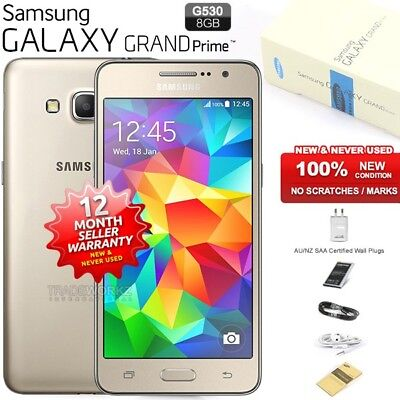 New Sealed Unlocked SAMSUNG Galaxy Grand Prime G530H Gold Android Mobile Phone