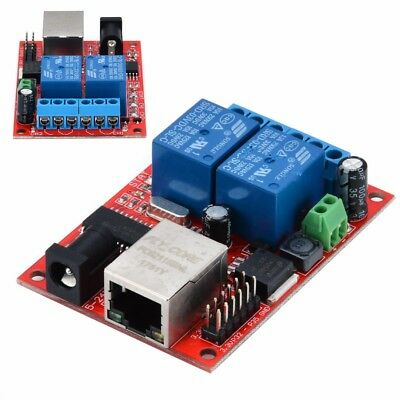 LAN Ethernet 2 Way Relay Board Delay Switch TCP/UDP Controller Module WEB Server