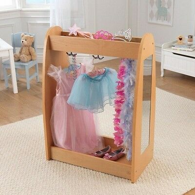 KidKraft 12421 Dress Up Unit - Natural with Hooks NEW