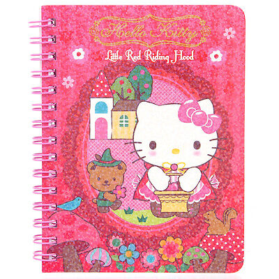 Sanrio Hello Kitty Laser Cover Mini Spiral Notebook 9-6398-12 KT Free Reg Ship