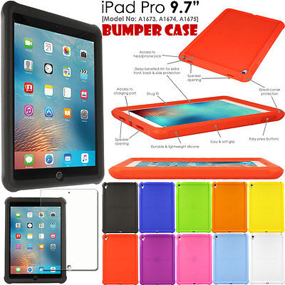 Shock Protective Tough Rugged Rubber BUMPER Case for Apple iPad PRO 9.7""