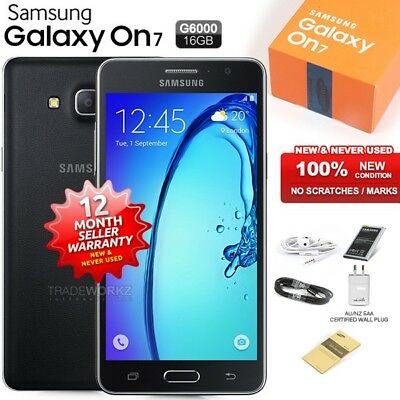 New Sealed Unlocked SAMSUNG Galaxy ON7 SM-G6000 Black 4G Android Mobile Phone