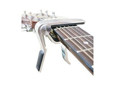 Alice TRIGGER GUITAR CAPO universal ACOUSTIC ELECTRIC quick release clamp CHROME