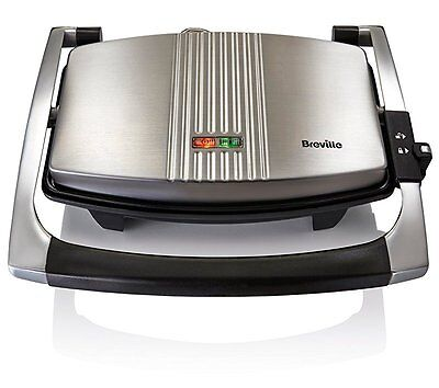 Breville Sandwich Press Stainless Steel Panini Grill Toaster Cheese Toastie New