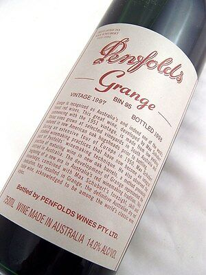 1997 PENFOLDS Bin 95 GRANGE Shiraz Unique Laser Code EY758 Isle of Wine