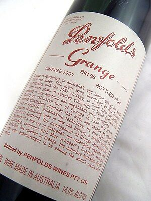 1997 PENFOLDS Bin 95 GRANGE Shiraz Unique Laser Code EY306 Isle of Wine