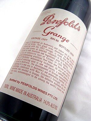1997 PENFOLDS Bin 95 GRANGE Shiraz Unique Laser Code EY589 Isle of Wine