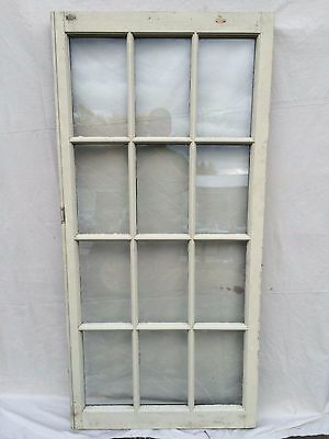 Antique 12 Lite Casement Window Sash Vintage Old 1825-16