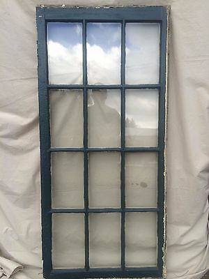 Antique 12 Lite Casement Window Sash Vintage Old 1827-16