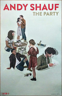 ANDY SHAUF The Party 2016 Ltd Ed New RARE Poster +FREE Folk Rock Indie Poster!