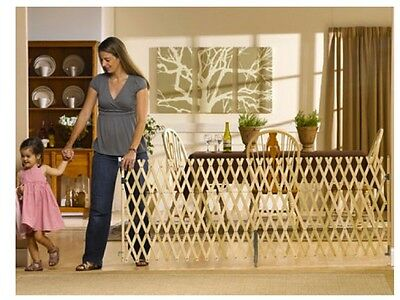 """Keepsafe Wood Expansion Dog Gate 36""""- 108""""(W), 32""""(H) - Longest in the industry!"""