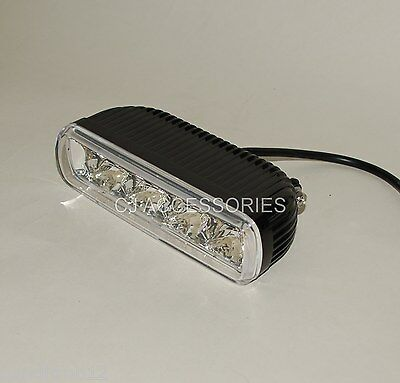 4 LED Black Headlight Spot Light Bottom Or Side Mount Cafe Racer Streetfighter