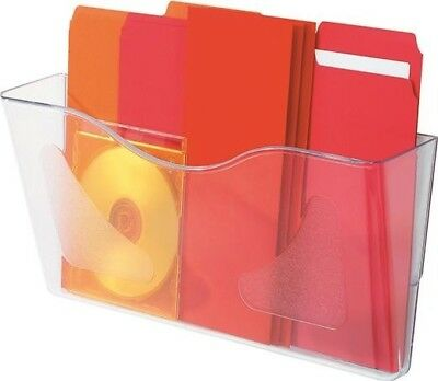 Deflecto 297 Crystal Landscape A4 Literature Office File Holder Wall Mounted
