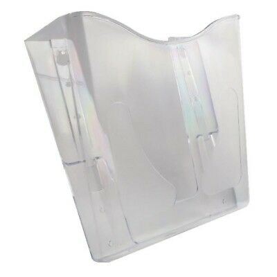 Deflecto 210 Crystal Portrait A4 Literature File Holder Wall Mounted CP078YTCRY