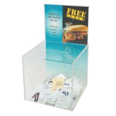 Deflecto Suggestion Box/Sign Holder Clear DE66001