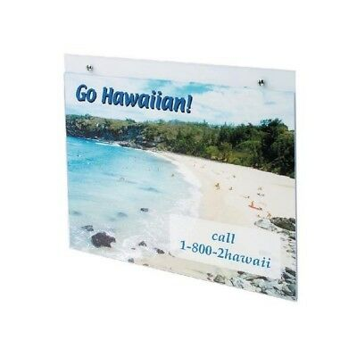 Deflecto Landscape Wall Sign and Poster Holder - A3
