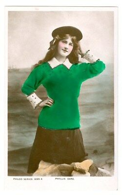 Stage And Movie Actress Phyllis Dare Tinted Photo Postcard Free Shipping