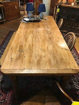 Reclaimed Antique Wood Rustic Country Farm Table