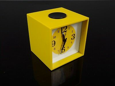 Goldbuhl clock alarm yellow reveil jaune space age 70's vintage