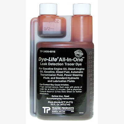 Tracerline TP3400-0016 Leak Detection Dye, for Engine or Transmission Oil 16 Oz.