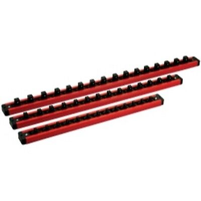 "Mechanics Time Saver LAS9PACK 1/4"", 3/8"" and 1/2"" Dr Lock-A-Socket Rails, 3 Each"