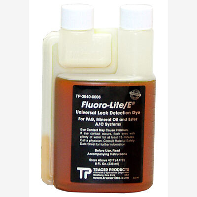 Tracerline TP3840-0008 Leak Detection Dye, Universal for R12 and R134a 8 Oz.