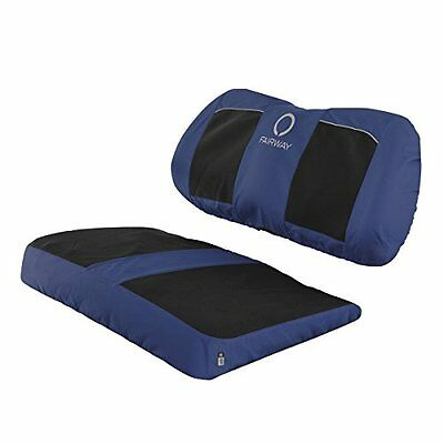 Classic Accessories Fairway Golf Cart Neoprene Paneled Bench Seat Cover, Navy