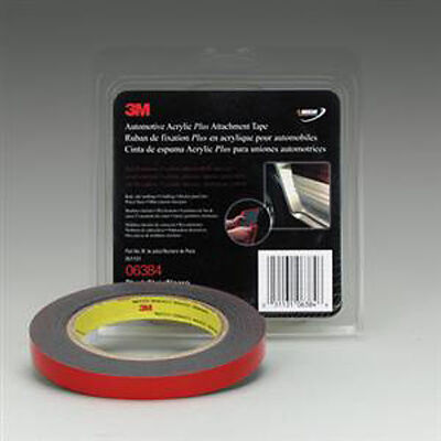 3M 06384 Gray 1/2 X 5 Yard Automotive Acrylic Plus Attachment Tape