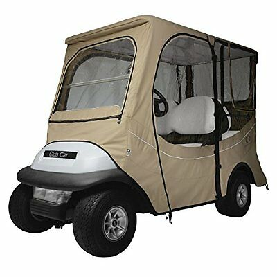 Classic Accessories Golf Cart FadeSafe Enclosure for Club Car, Long Roof, Khaki