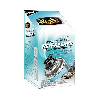 Meguiars G16402 Whole Car Air Refresher Odor Eliminator, New Car Scent 2 oz.